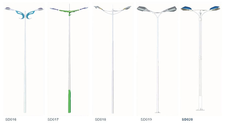 Pole design 6 white1 - Solar Pole Lights