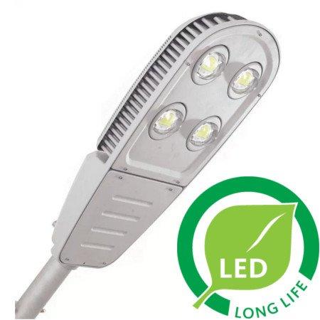 LED street lights have longer lives.