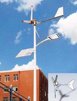 0002 Iluminación Solar y Energía Eólica para Exteriores