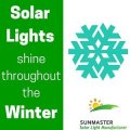 winter3 - Solar Lights Shine throughout the Winter