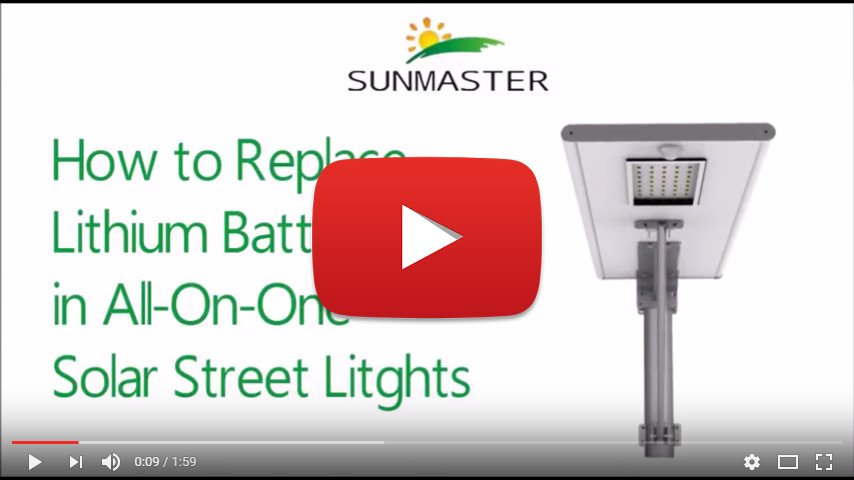How To Replace a Lithium Battery - All in one solar street light