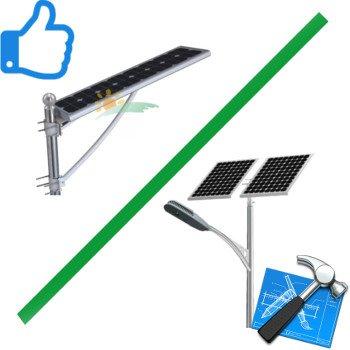 Solar street lights installation - Allinone Solar Street Lights vs. Traditional Solar Street Lights