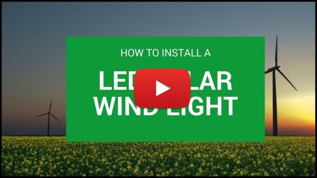 How to Install Solar Wind Street Light - How to install solar street light