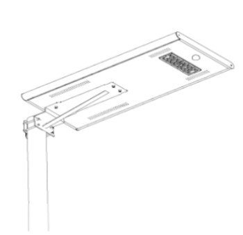 25W - All in one solar street light