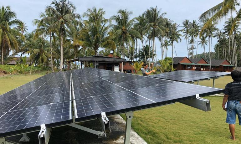 Monkeys, Telo, solar power indonesia