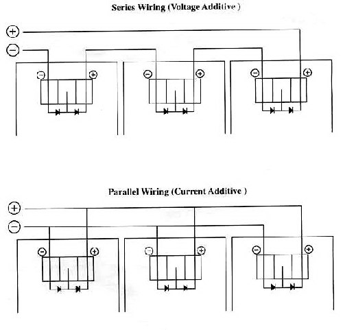 wiring diagram for fluorescent lights in series