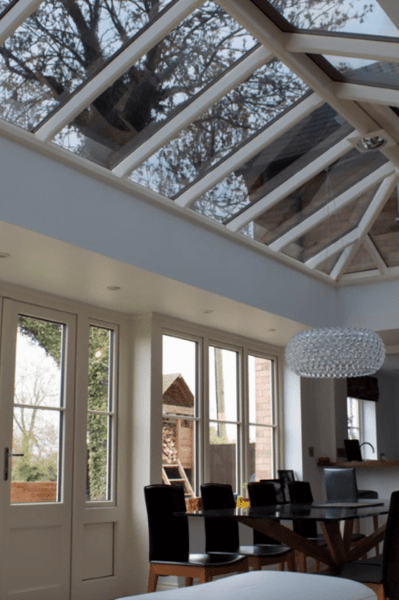 Heat loss film applied to a conservatory window