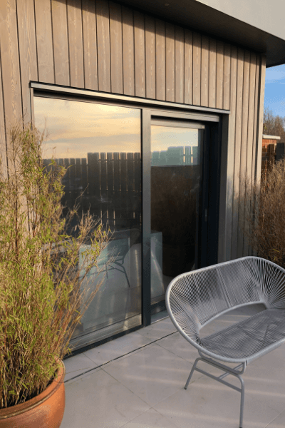 UV Protection Window Film on a residential door
