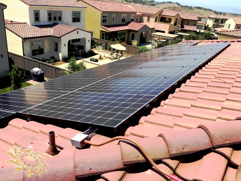 A high-quality solar system at the Mager residence in San Diego, California.