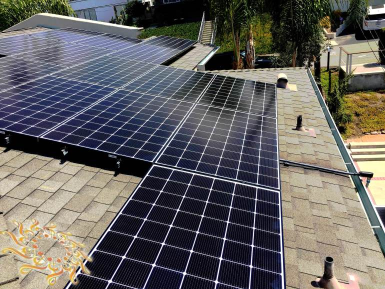 Solar Symphony recently completed another high-quality home solar system at the Dashe residence in Cardiff, California. This is a 6.615 kW solar array with LG 315 Watts solar panels.