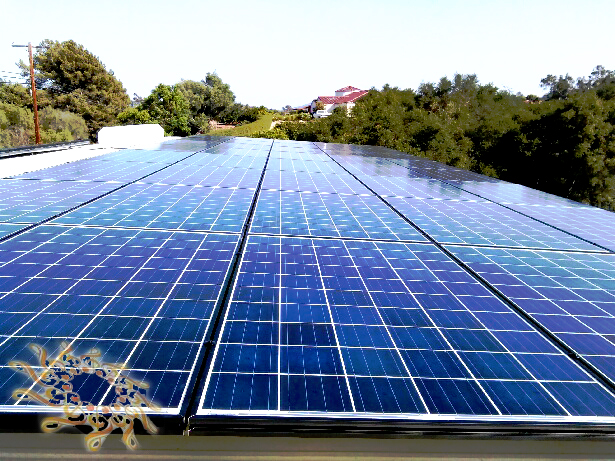 A high-quality solar energy system at the Pulse residence in  Fallbrook, California.