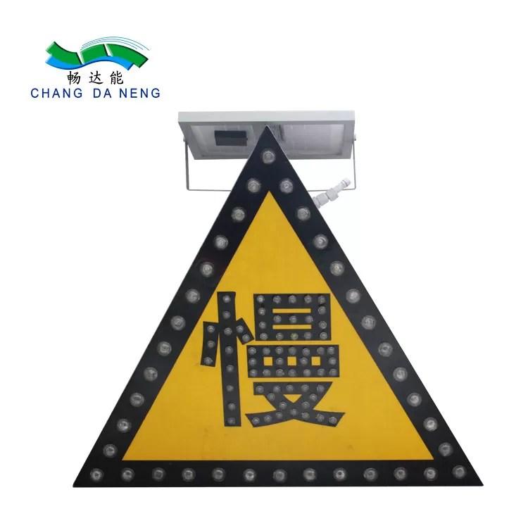 Hazard Solar Traffic Signal Light For Road Warning Led Arrow Directional Light