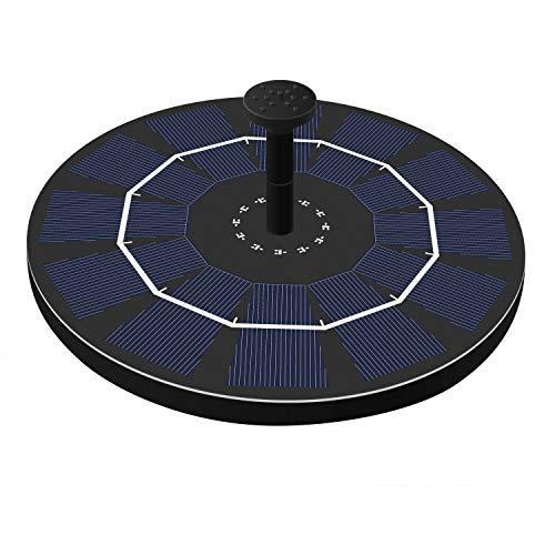 Solar Powered Fountain Water Pump Floating Garden Bird Bath Kits Battery Backup