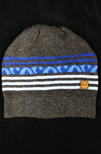 Solasonach Charcoal and blue lambswool hat