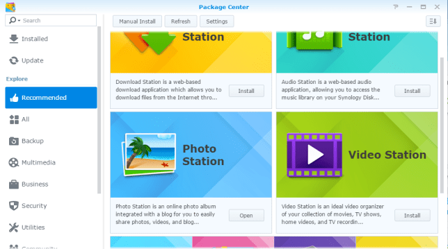 Photo Station 6 in het Synology Package Center