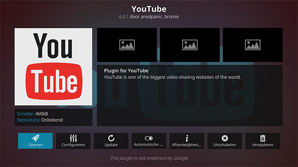 YouTube - beste Kodi addon voor video streamen
