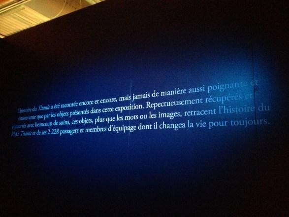 Titanic l'exposition Paris