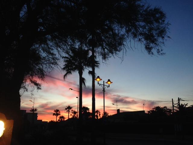 Coucher de soleil UCPA