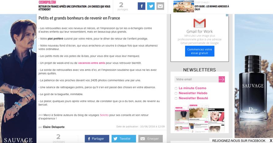 Site Cosmopolitan