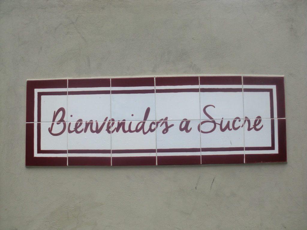 Bienvenidos a Sucre