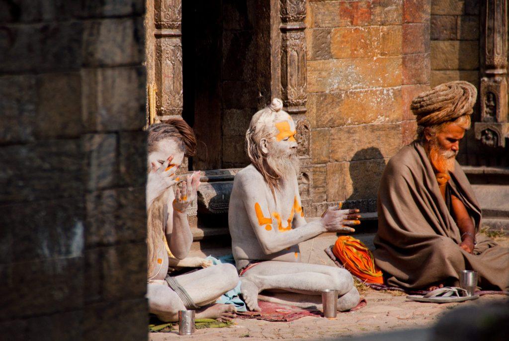 Cérémonie temple népalais
