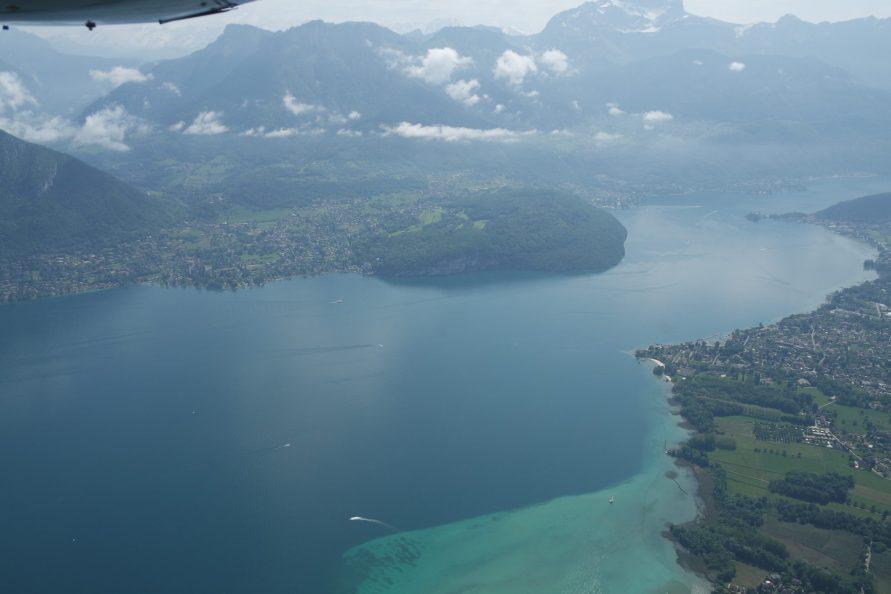 Lac du Bourget vu du ciel