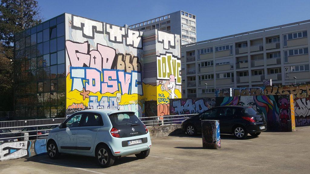 parking colombier rennes street art