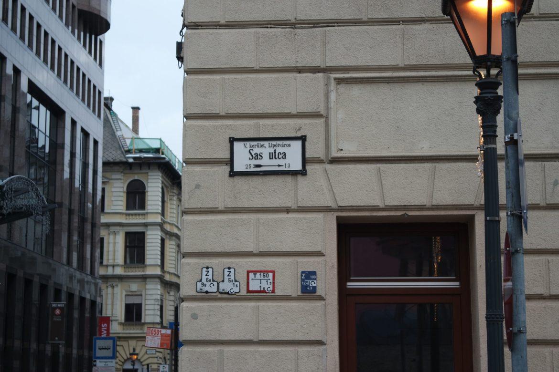 rues Budapest en hiver