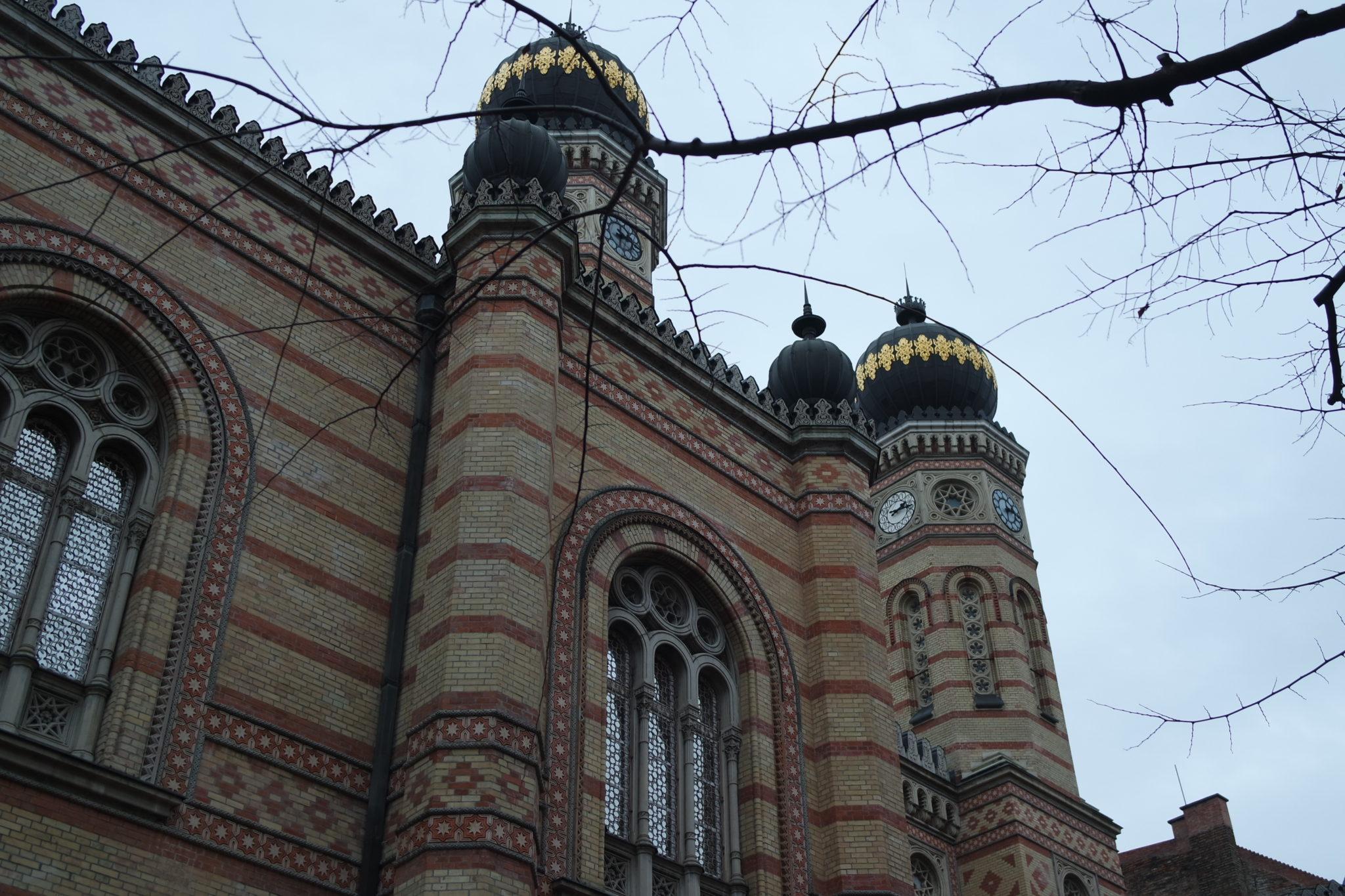 Budapest en hiver grande synagogue