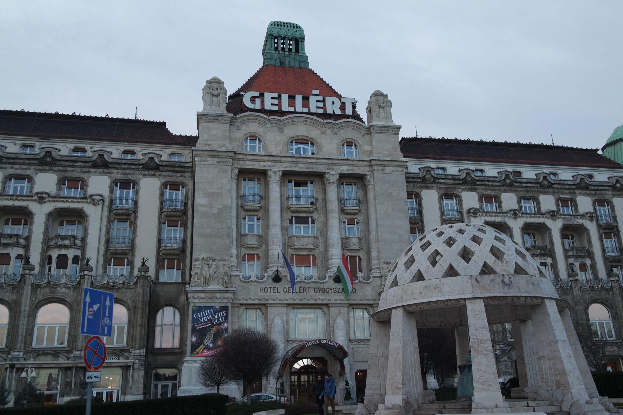 Budapest en hiver thermes Gellért