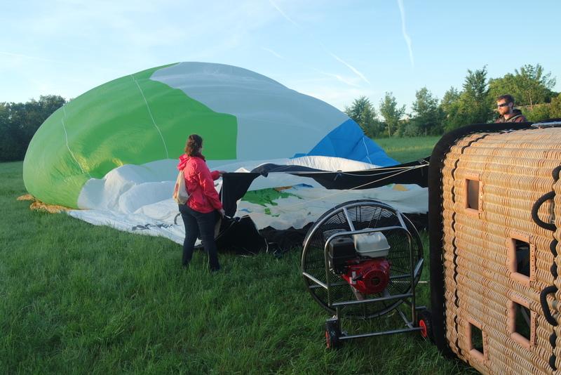 Préparation montgolfière