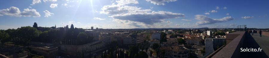 Vue panoramique Montpellier