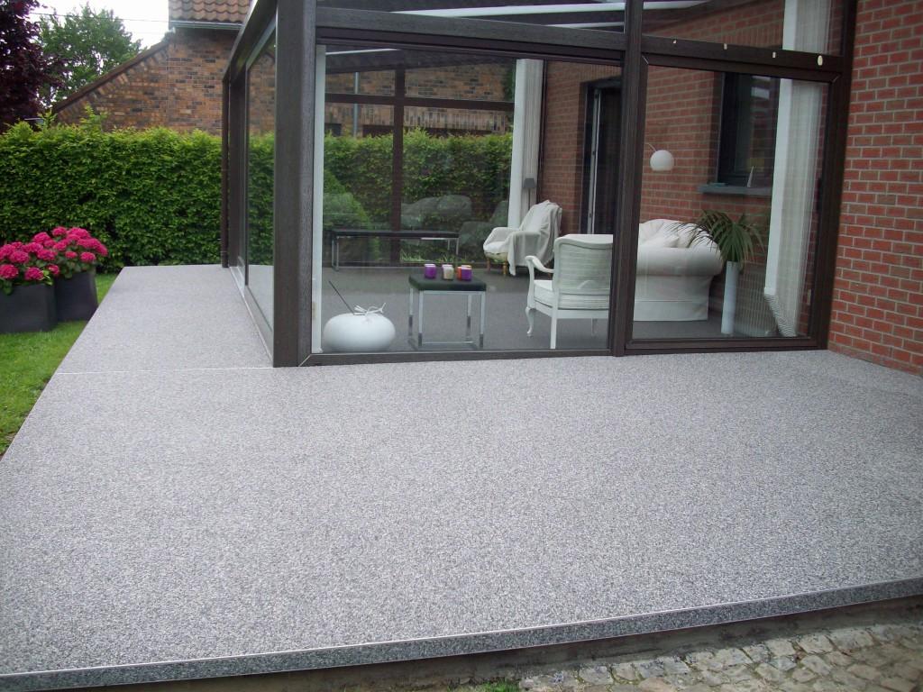 sol color tapis de pierres pour