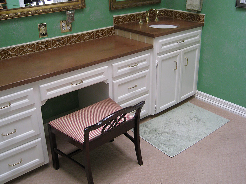 another view of bathroom countertop
