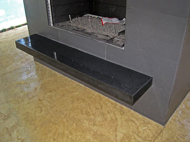black concrete mantle