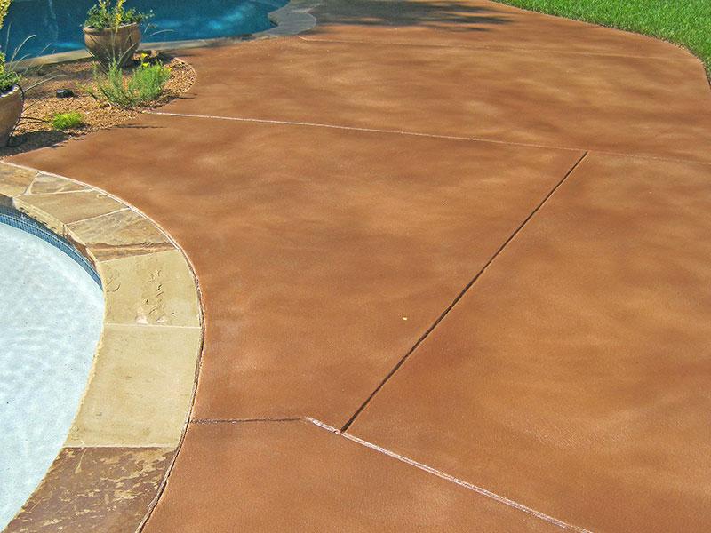 skim coated pool deck