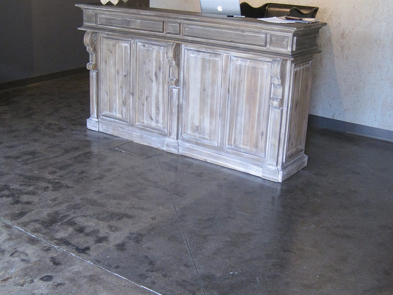 tile ghost image in front of receptionist desk