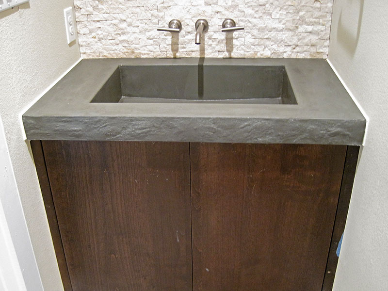 green slate concrete bathroom sink