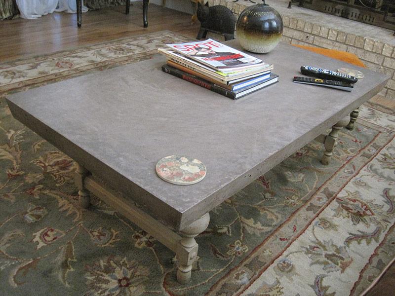 kahlua colored concrete coffee table