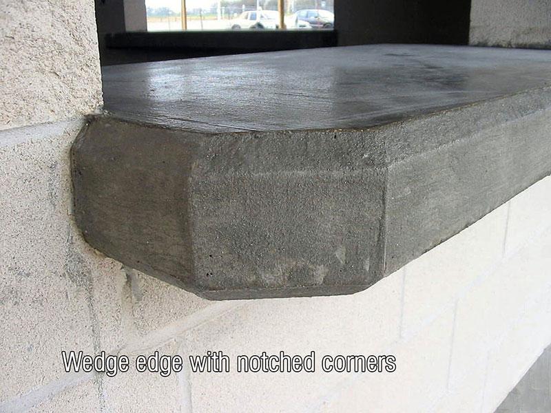 beveled edges for concrete countertops
