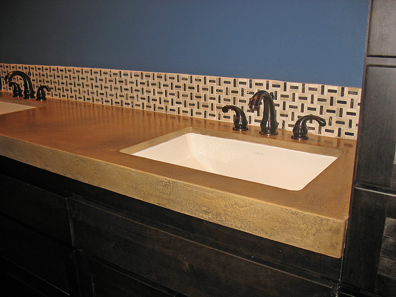 another view of undermount sink in beige concrete countertop