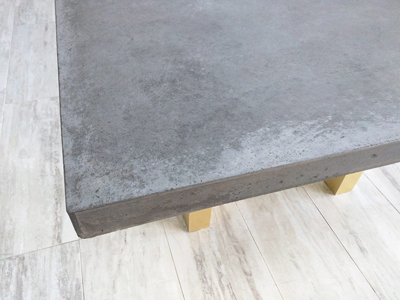 another view of a gray conference table