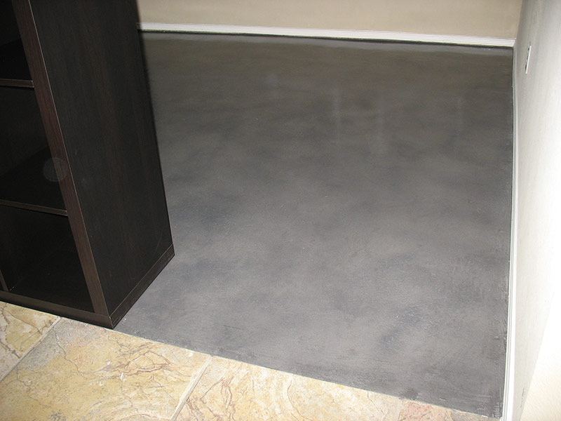 transition between tile and microfinish overlay