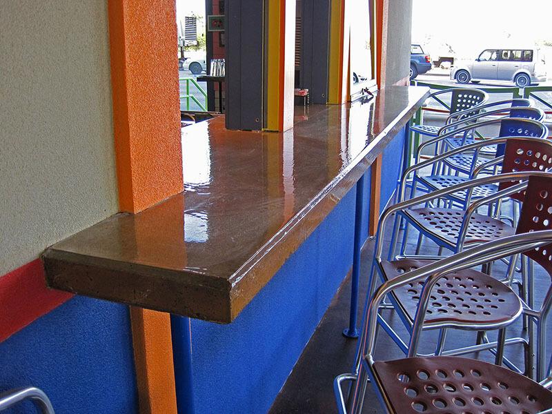 concrete countertop with epoxy sealer