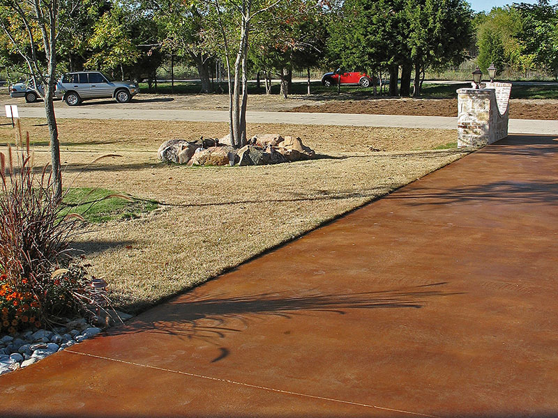 anther view of acid stained driveway
