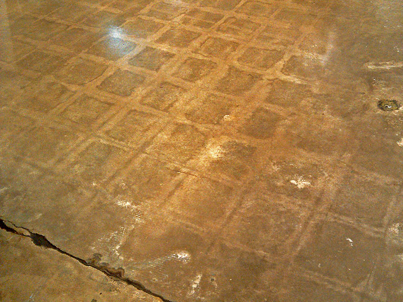 tile ghost image on concrete floor