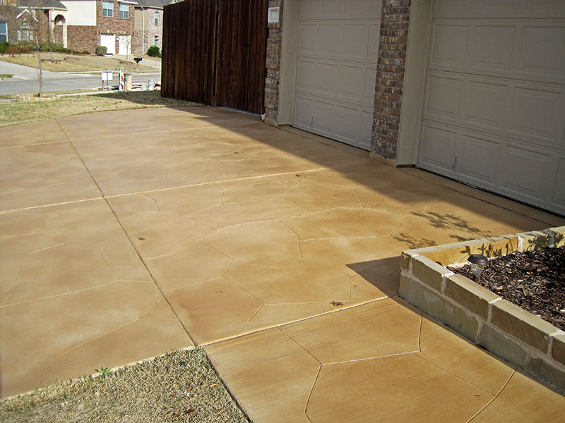 another view of sidewalk with skim coat overlay