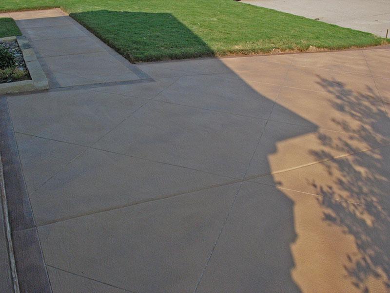 shadows on skim coated driveway