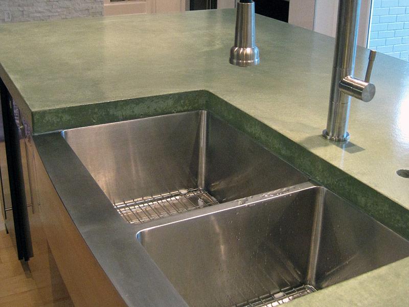 closeup view of countertop edge around undermount sink