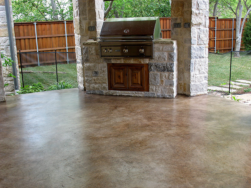 kona brown acid stained patio